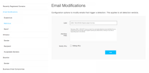 Email Modifications Example